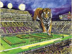 I know I'm not going here but this picture is awesome… LSU Tigers Lsu Tiger Stadium, Lsu Tigers Football, Sec Football, Saints Football, Football Memes, College Football, Death Valley Stadium, Louisiana State University, New Orleans Saints