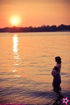 maternity shoot idea beach sunset