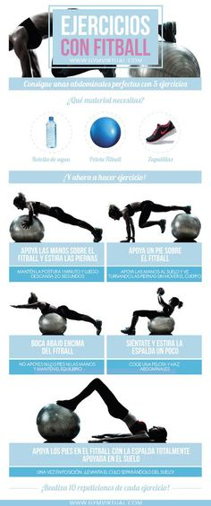 19 mejores imágenes de Ejercicios con pelota de fitness 1243705a3ede