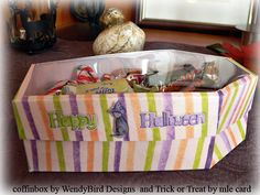 Boxed In Vol. 20: Coffin by WendyBird Designs | trick or treat by mle Card | transparency film