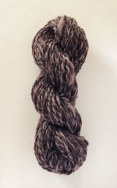 Hand-spun wool skein in two cocoa brown 100 gr. by TheWovenSheep