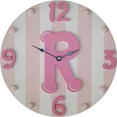 Cute initial clock for the nursery!
