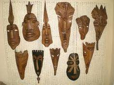 Resultado de imagen para mascaras con hojas de palmeras