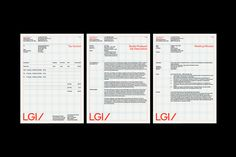 Lucy Guerin Inc by M.Giesser — The Brand Identity Invoice Design, Letterhead Design, Brochure Design, Web Design, Grid Design, Book Design Layout, Print Layout, Book Layouts, Editorial Layout