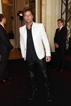 Ricky Martin at the Balmain Menswear Show | Tom + Lorenzo #menstyles