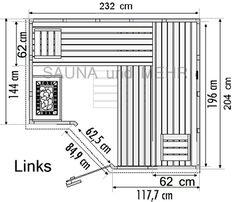 Saunas, Outdoor Kitchen Design, Floor Plans, Architecture, Bathing, Arquitetura, Steam Room, Architecture Design