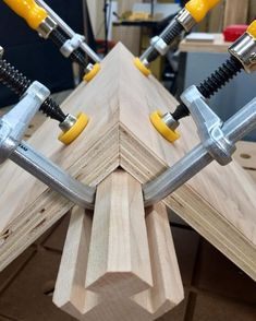 Band clamp, schmand schlamp. Dovetail Clamps FTW! What's YOUR favorite way to clamp miter joints? #microjig #woodwork #woodworking #dovetail #worksmarter