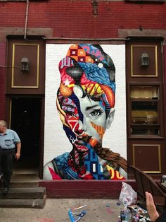 This modern Painting of Audrey Hepburn in NYC's Little Italy reminded me if modern transcendentalism because it was unusual back then to have portraits of women on streets like this and the craziness of the colors and patterns make the portrait jump out even more and expressing individuality and uniqueness.