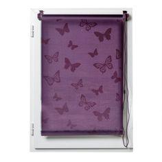Store enrouleur tamisant (60 x H180 cm) Papillons Aubergine : choisissez parmi tous nos produits Store enrouleur tamisant