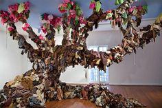 """""""Clothes tree"""" by Guerra de la Paz  #ropa #reciclaje #arte / #clothes #recycling #art"""