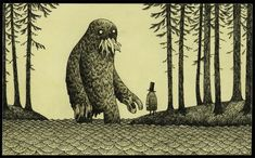 What if Edward Gorey drew Lovecraft's unspeakable horrors?   Don Kenn (Edward Gorey-inspired art)