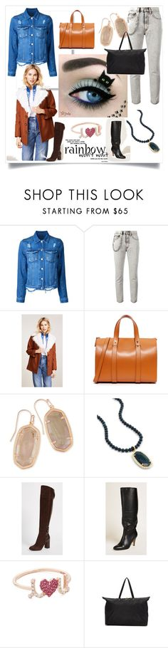 """""""Style Guide"""" by mkrish ❤ liked on Polyvore featuring Nobody Denim, Marc Jacobs, Tory Burch, Haerfest, Kendra Scott, Belstaff, Matiko, Sydney Evan and Tumi"""