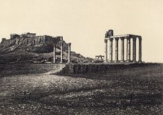 View of Acropolis and Athenes; Antiquity and Photography Early Views of Ancient Mediterranean Sites - Getty publications Bus Travel, Travel Goals, Seattle Skyline, New York Skyline, Athens Greece, Travel Photographer, Monument Valley, World, Greece Pictures