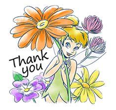 Tinker Bell by The Walt Disney Company (Japan) Ltd. Disney Fairies, Tinkerbell, Walt Disney Company, Line Sticker, Cartoon Pics, Cute Stickers, Disney Love, Pixie, Fairy