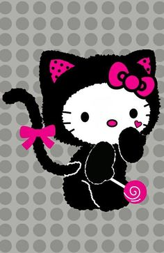 hello kitty image by Diana Lee Doub. Hello Kitty Art, Here Kitty Kitty, Hello Kitty Tattoos, Hello Hello, Hello Kitty Pictures, Kitty Images, Hello Kitty Imagenes, Hello Kitty Halloween, Miss Kitty