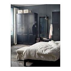 PAX Kleiderschrank, schwarzbraun, Undredal schwarz - 150x60x236 cm - Scharnier, sanft schließend - IKEA