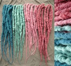 20 DE crocheted pastel synthetic dreads by dreadsbyAja on Etsy, €50.00