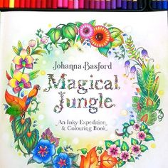 A better look of the page. #johannabasford #magicaljungle