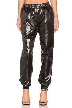 Kenzo Light Shiny Pants en Noir   REVOLVE