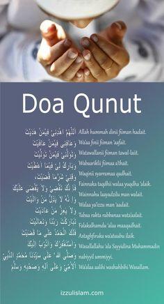Doa Qunoot Doa / dua / doowa when shalat / salah fajr / subuh Beautiful Quran Quotes, Quran Quotes Inspirational, Islamic Love Quotes, Hijrah Islam, Doa Islam, Mubarak Ramadan, Ramadan Day, Learn Quran, Learn Islam