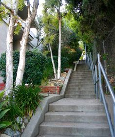 Los Angeles Originally built for pedestrians passing from Vendome Street up to Descanso Drive in L.A.'s hilly Silver Lake district, these steps got their moment of fame in the Laurel and Hardy 1932 short The Music Box: the comedic duo unsuccessfully attempts to move a piano up this long flight of steps