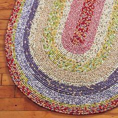 i want a big braided rug - just like my nana used to make.