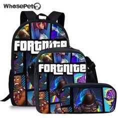 Kids Boys Shoulder Bag Battle Royale Glow In Dark School Lunch Bag+Hat+Gloves UK