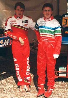 Two future F1 champions - Kimi Räikkönen and Fernando Alonso during their karting years!
