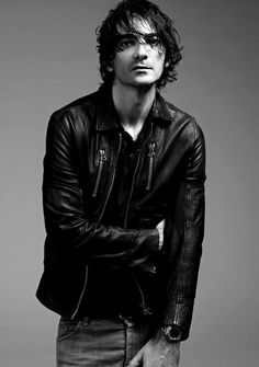 Cool leather jacket.