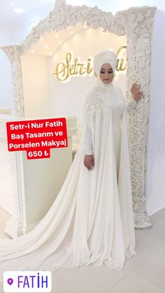 """I DO"" Inspiration Wedding Abaya, Muslim Wedding Gown, Muslimah Wedding Dress, Hijab Style Dress, Muslim Brides, Pakistani Wedding Dresses, Bridal Dresses, Kebaya Wedding, Muslim Couples"