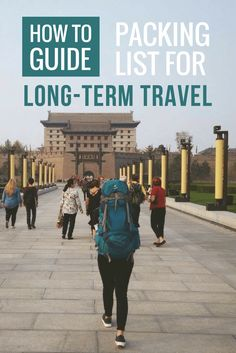 Packing List For Long-Term Travel