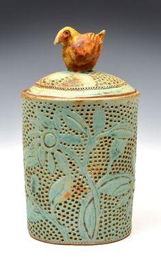 jar with bird handle