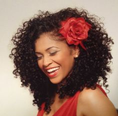 Wash and Go Wedding. Add accessory for pop of color!