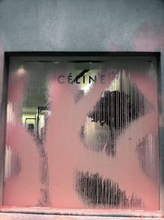 Celine Paris Store - Vandalised by the graffiti artist Kidult, who spray painted a big over the window display of the Parisian flagship. Celine, Display Design, Store Design, Display Ideas, Camille Over The Rainbow, Graphic Design Tattoos, Paris Store, Environmental Graphics, Shop Window Displays