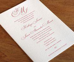 Invitation Wording: When the Bride's Family Hosts | letterpress wedding invitation blog