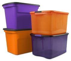 Halloween Storage  sc 1 st  Pinterest & Halloween Plastic Storage Bins: Store Your Halloween Decorations In ...