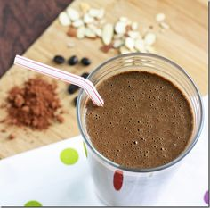 Mocha Muscle Protein Smoothie by katrina-runs #Smoothie #Mocha #Protein #Healthy