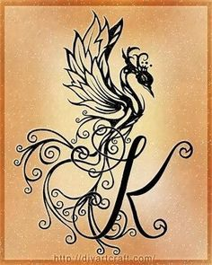 Letter K Tattoo Designs Phoenix More