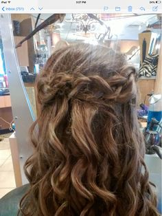 Half up with braid....