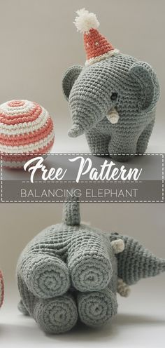 balancing elephant – Pattern Free balancing elephant – Pattern Free ,DIY Related posts:Awesome Amigurumi Crochet and Handicraft Doll for Your Kids!How to Join Yarn with the Magic Knot Crochet Pattern Free, Crochet Patterns Amigurumi, Cute Crochet, Crochet For Kids, Crochet Crafts, Crochet Dolls, Crochet Projects, Knitting Patterns, Easter Crochet