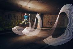 Joanna Jaskolska  Breakdance Light Painting