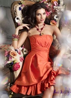 Dress For Homecoming 2015 Homecoming Dresses Strapless Sleeveless Orange Mermaid Prom Dresses Short Knee Length Satin Cocktail Gowns With Pleats Homecoming Dresses 2011 From Newdeve, $99.9| Dhgate.Com