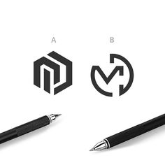 MD hexagon and MD circle. Logo design, logo inspiration, logo font, logo ideas, logo branding, logo simple, logo typography