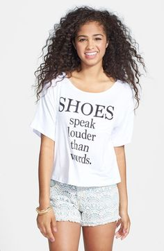 Project Social T 'Shoes Speak' Tee (Juniors) available at #Nordstrom