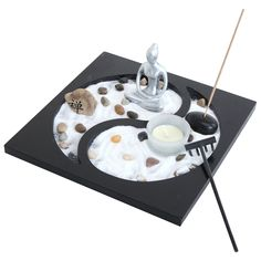 Amazon.com: Zen Sand Rocks Candle Holder Taiji Yin Yang Tabletop Rake Garden Kit Incense Burner Gift: Home & Kitchen | @giftryapp Turntable, Music Instruments, Musical Instruments, Record Player