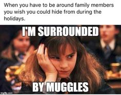 I'm surrounded by muggles every. Single. Day