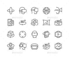 Line 360 Degree Icons. Download here: http://graphicriver.net/item/line-360-degree-icons/16582565?ref=ksioks