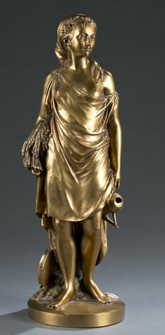 F. Barbedienne Bronze Sculpture of Demeter. : Lot 178