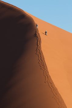 Climb a dune #travel to #deserts