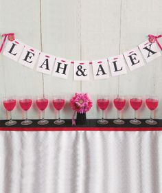Michaels.com Wedding Department: Leah and Alex Wedding Banner Celebrate your wedding day in a big way.  Use all-purpose cards to create your own personal message.  Add additional embellishments to make it reflect your personal style!